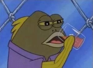 Fish Drinking Tea Drinking meme template
