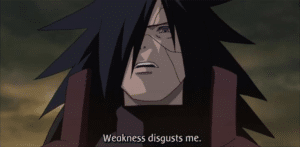 Madara Weakness disgusts me Disgust meme template