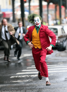 Joker running from police Joker meme template