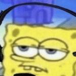 Spongebob wearing headset Gaming meme template