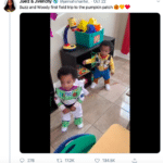 wholesome-memes black text: @jamiahshantel_ • Oct 22 Juelz & Jivenchy Buzz and Woody first field trip to the pumpkin patch Q 276 17.2K 0 134.5K  Tweet, Wholesome, Black Twitter