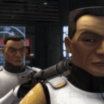Clones pointing guns at each other Star Wars meme template blank