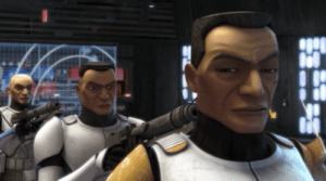 Clones pointing guns at each other Pointing meme template