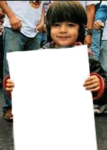 Kid holding sign Opinion meme template