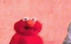 Surprised Elmo Surprised meme template
