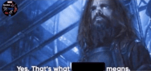 Yes, thats what (blank) means Avengers meme template
