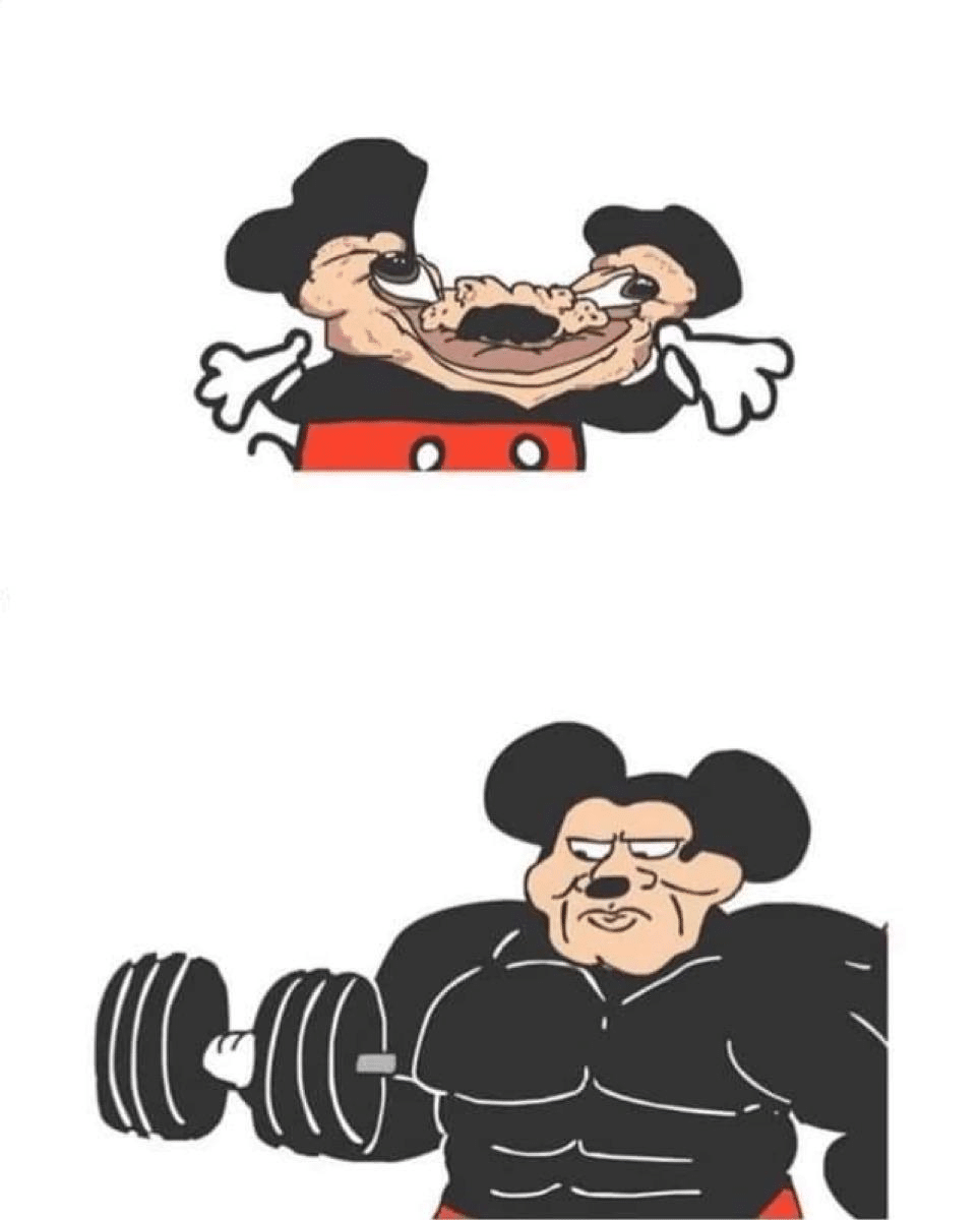 Meme Generator - Weak Mickey Mouse vs. Strong Mickey Mouse ...