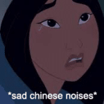 Sad Chinese noises Sad meme template blank