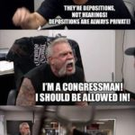 political-memes political text: THE IMPEACHMENT THEY