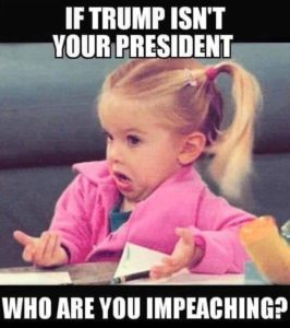 political-memes political text: IF TRUMP ISN'T WHO ARE IMPEACHING?