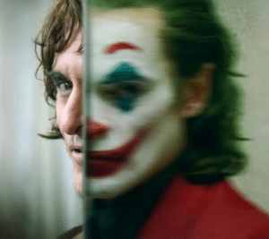 Joker and Arthur Fleck face  Clown meme template