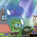 Spongebob Sorry I dont speak (blank) Spongebob meme template blank
