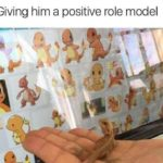 wholesome-memes cute text: )iving him a positive role model  cute