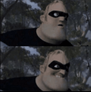 Mr. Incredible Evil Smile Pixar meme template