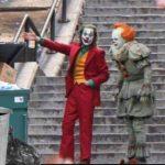 Joker showing Pennywise trash  meme template blank