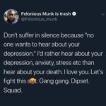 wholesome-memes black text: Felonious Munk is trash @Felonious_munk Don