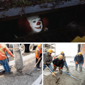 Pennywise getting buried meme Clown meme template