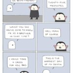 wholesome-memes cute text: GHOST AND VAMPIRE we BEEN FRIENDS? you SAY YOU