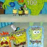 spongebob-memes spongebob text: OOL  spongebob
