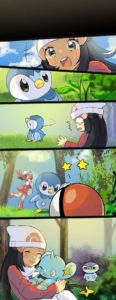 Piplup Refusing to Fight Pokemon meme template