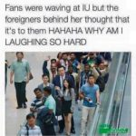 wholesome-memes cute text: Fans were waving at ICJ but the foreigners behind her thought that itls to them HAHAHA WHY AM I LAUGHING SO HARD  cute