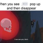 dank-memes cute text: When you see pop up and then disappear I can see you, bitch.  Dank Meme, Gaming, Anime, Sliding into the DMs