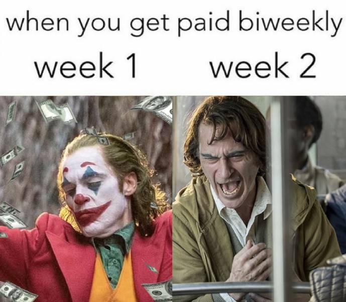 Dank Meme dank-memes cute text: when you get paid biweekly week 1 week 2