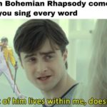 other-memes other text: When Bohemian Rhapsody comes on and you sing every word A part of him lives within me, doesn