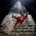 Joker slipping down stairs Joker meme template blank  Joker, Slipping, Stairs,