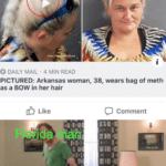 dank-memes cute text: u/Your TastesGood O DAILY MAIL 4 MIN READ PICTURED: Arkansas woman, 38, wears bag of meth as a BOW in her hair O Like Comment Are you Challenging mg?  Dank Meme