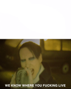 Marilyn Manson with AK-47 Music meme template