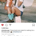 wholesome-memes cute text: T-Mobile Wi-Fi 1,296 likes 2:09 PM Posts 950/01. whataburger These boots are made for walking (to a Whataburger) @hallieharrod View all 6 comments burdknurd666 Add like 751bs to this chick and she will accurately portray Texas women. Unless she is from Chicago. Yall sold out. whataburger @burdknurd666 Texas women, like all women, come in all shapes and sizes and they