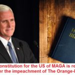 political-memes political text: The new constitution for the US of MAGA is ready to launch after the impeachment of The Orange-Man  political