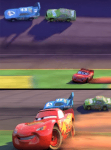 Lightning McQueen recovering Pixar meme template