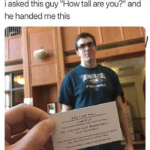 wholesome-memes cute text: he handed me this ow tall are YES I AM TALL AM o