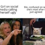 other-memes dank text:  Dank Meme, Woman Yelling at Cat, Ugly