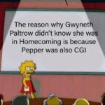 avengers-memes thanos text: The reason why Gwynetly Paltrow didn
