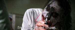 I am an agent of chaos Gun meme template