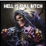 """wholesome-memes cute text: bpdkipland my favorite picture ever is the one that says """"HELL IS FULL, BITCH"""" and then it has the national suicide prevention hotline on it. it makes me smile every time bpdkipland HELL IS FULL BITCH 1-800-273-8255 oscztiona/stz*depeoen • THIS ONE!!!!  cute"""