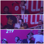 Image of kid who tricked NBA dance cam into showing shirt in support of Hong Kong   meme template blank Dance, Tricked, Showing, Support, Shirt, Image