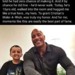 wholesome-memes cute text: When Cristian was 14 months old, he was diagnosed with a brain tumor and his family was told he had zero chance of making it. And if by chance he did live - he