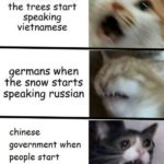 other-memes dank text: americans when the trees start speaking vietnamese germans when the snow starts speaking russian chinese government when people start speaking freely