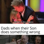 dank-memes cute text: Dads when their daughter does something wrong Oh dear, oh dear. Gorgeous Dads when their Son does something wrong You are accused pf anti-Soviet. u behaviour. The court finds you guilty and sentences you to be shot.  Dank Meme