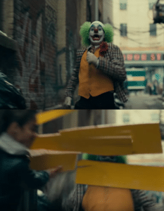 Hitting joker with sign Joker meme template