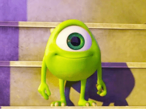 Kid Mike Wazowski Happy Pixar meme template