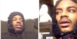Black guy in hoodie high Black Twitter meme template