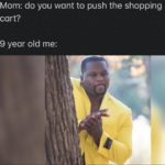 wholesome-memes cute text: Mom: do you want to push the shopping cart? 9 year old me:  cute
