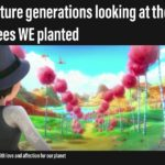 wholesome-memes cute text: Future generations looking at the trees WE planted Made with love and affection for our planet  cute