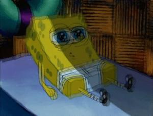 Spongebob waking up confused in underwear Confused meme template