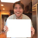Shane Dawson holding sign YouTube meme template blank  YouTube, Shane Dawson, Holding Sign